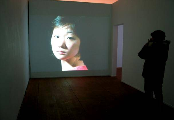 (6)Please call me ! interactive video installation 2002